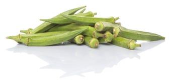 Légumes de doigts de gombo ou de dames X Photo libre de droits