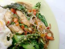 Légumes de fines herbes frits Images libres de droits