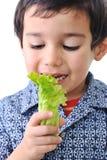 Légumes de fixation de gosse photos stock