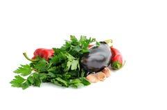 légumes de fond blancs Images stock