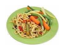 Légumes de nouilles de plat Images stock