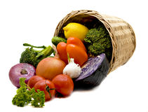 légumes de panier Photos libres de droits