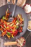 Légumes de sauté Image stock