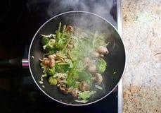 légumes de stir de friture Photo stock