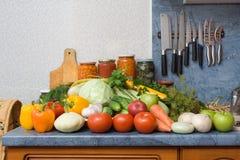 légumes de table Photos stock