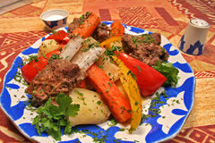 légumes de viande Image stock