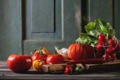 légumes du marché de segment de mémoire de porcelaine Photographie stock libre de droits