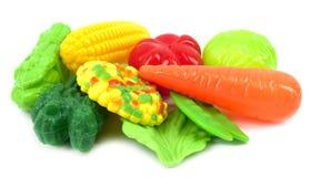 Légumes en plastique Photo stock