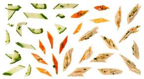 Légumes en sauce à oignon Image libre de droits