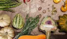 Légumes et épices photos stock