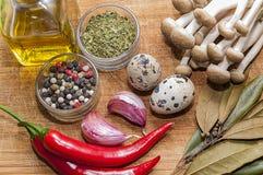 Légumes et épices Images libres de droits