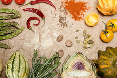 Légumes et épices Image stock