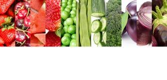 Légumes et collage de fruits images stock