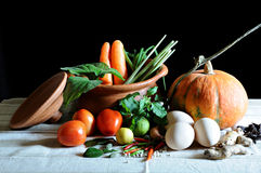 Légumes et cuisson photographie stock