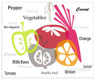 Légumes et fruits Illustration de Vecteur
