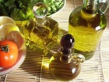 Légumes et huile d'olive Images libres de droits