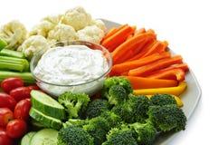 Légumes et immersion photographie stock