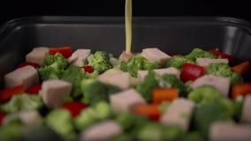 Légumes et jambon banque de vidéos