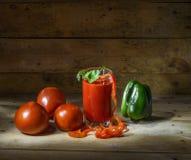 Légumes et jus de tomates Image libre de droits