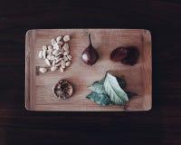 Légumes et noix Images stock