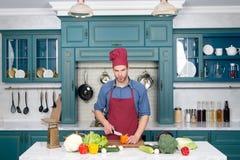 Légumes et outils sur prêt à servir pour la cuisson Image libre de droits