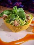 Légumes et salade de poulet Photographie stock libre de droits