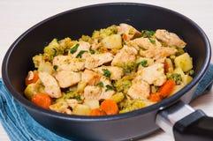 Légumes et viande cuits Photographie stock libre de droits