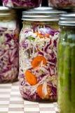 Légumes fermentés ou cultivés Photographie stock libre de droits