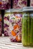 Légumes fermentés ou cultivés Images libres de droits