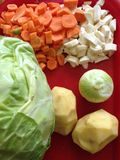 Légumes frais découpés en tranches Images libres de droits