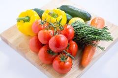 Légumes frais d'isolement images stock