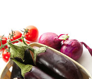 Légumes frais d'isolement sur le fond blanc Photo libre de droits