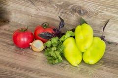 Légumes frais d'isolement sur un fond blanc Photo libre de droits