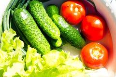 Légumes frais dans une cuvette Photo stock