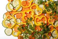 Légumes frais de coupure images stock