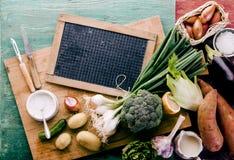 Légumes frais de ferme saine pour le dîner image libre de droits