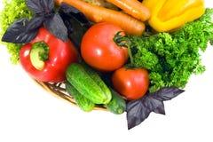 légumes frais de fond blancs Image stock