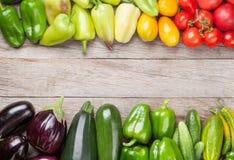 Légumes frais de jardin d'agriculteurs Image libre de droits