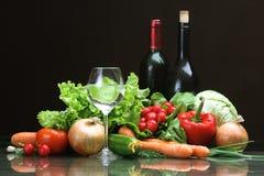 Légumes frais et d'autres produits alimentaires. Photo libre de droits