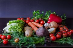 Légumes frais et diététiques d'été photographie stock
