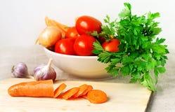 Légumes frais et substance verte Photo libre de droits