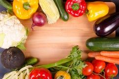 Légumes frais, fond d'automne Trame saine de consommation Images libres de droits