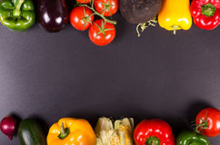 Légumes frais, fond d'automne Trame saine de consommation Images stock