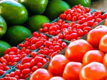 Légumes frais lus pour être vendu Images stock