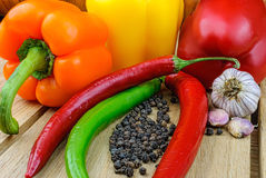 Légumes frais sur la table Photo stock