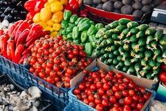 Légumes frais sur le marché Photographie stock libre de droits
