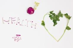 Légumes frais sur un fond blanc Images libres de droits