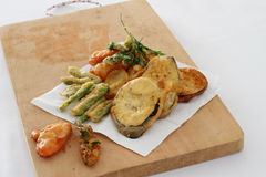 Légumes frits Photo stock