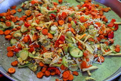 Légumes frits Image stock