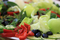 Légumes, fruit et herbes Images libres de droits